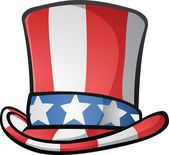 Uncle Sam Top Hat American Cartoon — Stock Vector