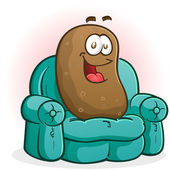 Couch Potato Cartoon Character — Stock Vector