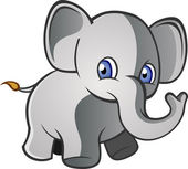 Baby Elephant Cartoon Character — Stock Vector