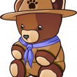 Постер, плакат: Teddy Bear Cub Scout Cartoon Character