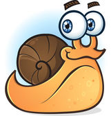 Snail Smiling Cartoon Character — Stock Vector