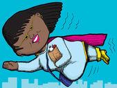 Mama superbohatera — Wektor stockowy