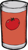 Can of Tomato Paste — Stock Vector