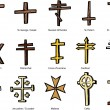 Various Christian Crucifix Designs — Stock Vector