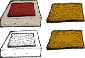 Isolated Door Mat on Step — Cтоковый вектор