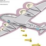 B-29 Bomber Plane — Stock Vector #16761209
