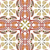 Seamless Symmetrical Pattern — Stock Vector