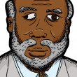 Businessman with Eye Defect — Imagen vectorial