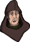 Scared Medieval Man — Stockvector
