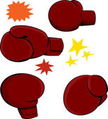Boxing Glove Angles — Stock Vector