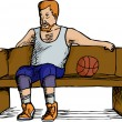 Постер, плакат: Basketball Player Resting