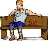 Basketball Player Resting — Stock Vector