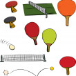 Ping Pong Game Set - Stok Vektör
