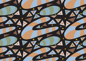 Abstract Underground Worm Pattern — Stock Vector