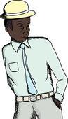 Handsome Black Businessman — Stock Vector