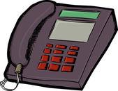 Telefonní linky půdy — Stock vektor