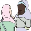 Stock Vector: Muslim Ladies Talking