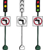 No Left Turn Signal — Stock Vector