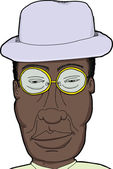 Black Man with Glasses — Stockvektor