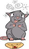 Poisoned Rat — Stock Vector