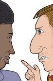 Two Men Arguing — Stock Vector