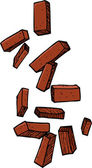 Loose Bricks — Stock Vector
