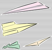 Group of Paper Airplanes — Stock Vector