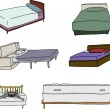 Постер, плакат: Various Bed Cartoons
