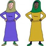vertrouwen Moslimvrouw — Stockvector