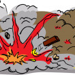 Large Explosion Cartoon — Vetorial Stock #39713259