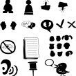 Stock Vector: Set of Funny Web Icons