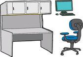 Office Furntiure — Stock Vector