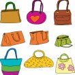 Stock Vector: Pretty Purses and Handbags