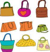 Pretty Purses and Handbags — Stock Vector