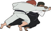 Fast Aikido Throw — Stockvector