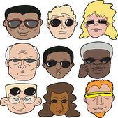 People in Sunglasses — Stock Vector