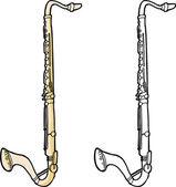 Isolated Bass Clarinet — Stock Vector