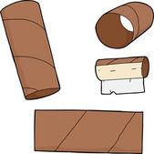 Toilet Paper Tubes — Stockvektor