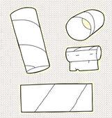 Toilet Tissue Tubes — Stockvektor