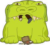 Monster Eating Businessman — Stock Vector