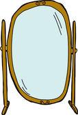 Flip Dressing Mirror — Stock Vector