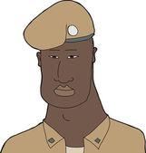 Handsome Soldier — Stock Vector