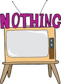 Nothing On TV — Stock Vector
