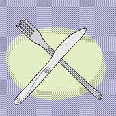 Knife and Fork — Stock Vector