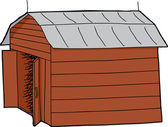 Open Barn — Stock Vector