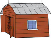 Barn with Open Door — Stock Vector