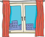 Single Casement Window — Vetorial Stock