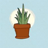Small Cactus Houseplant — Stock Vector