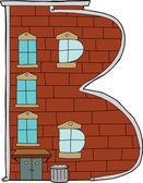 Apartment Letter B — Stock Vector