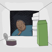 Man Looking in Refrigerator — Vetorial Stock